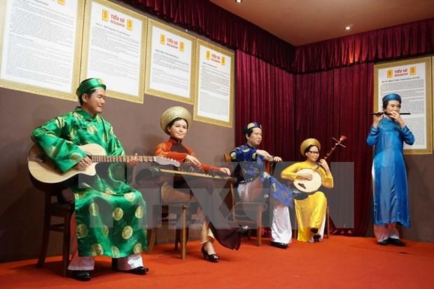 Inauguran exposicion de figuras de cera de artistas vietnamitas hinh anh 1