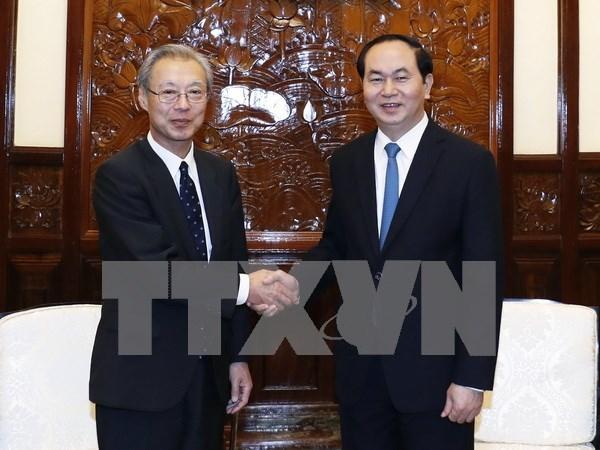 Presidente Dai Quang afirma apoyo a cooperacion entre VNA y Kyodo News hinh anh 1