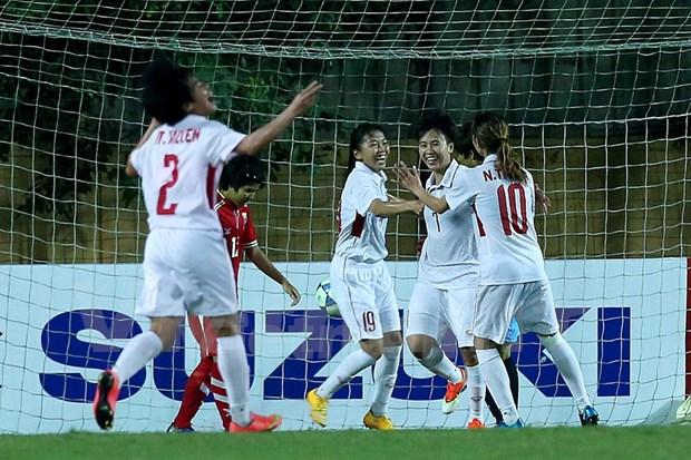 Vietnam clasifica para ronda final de la Copa Asiatica de Futbol Femenina 2018 hinh anh 1