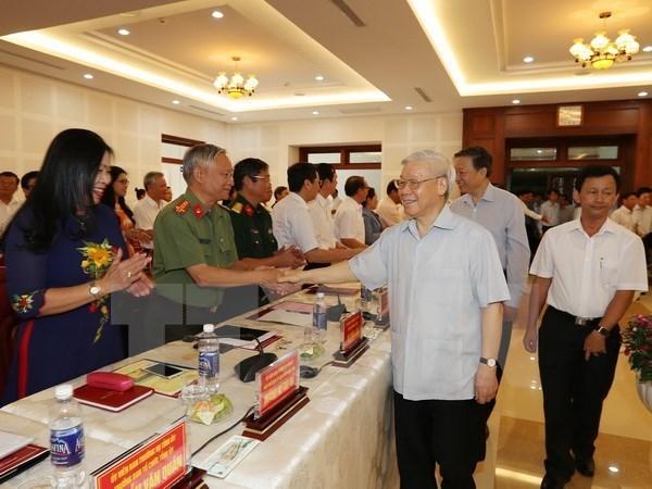 Lider partidista vietnamita pide a Gia Lai centrarse en agricultura de alta calidad hinh anh 1