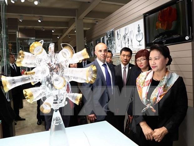 Lider parlamentaria de Vietnam visita region checa de Karlovy Vary hinh anh 1