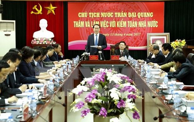 Presidente vietnamita insta a aumentar auditoria en proyectos de desarrollo hinh anh 1