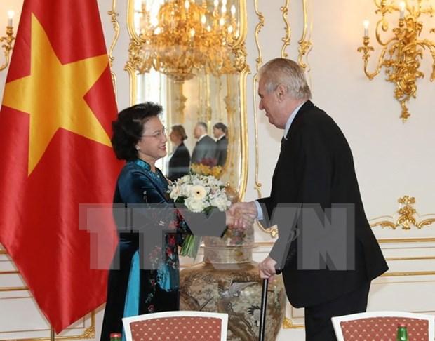 Lider parlamentaria vietnamita saluda proxima visita de presidente checo hinh anh 1