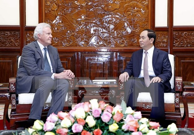 Presidente de Vietnam saluda plan de ampliacion de inversion del grupo GE hinh anh 1