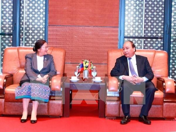 Premier vietnamita recibe a presidenta de Asamblea Nacional de Laos hinh anh 1