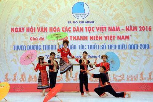 En Ciudad Ho Chi Minh Dia cultural de etnias vietnamitas hinh anh 1