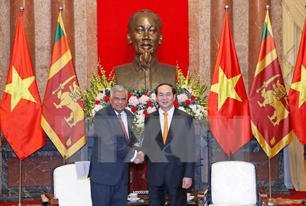 Lideres vietnamitas reciben a primer ministro de Sri Lanka hinh anh 2