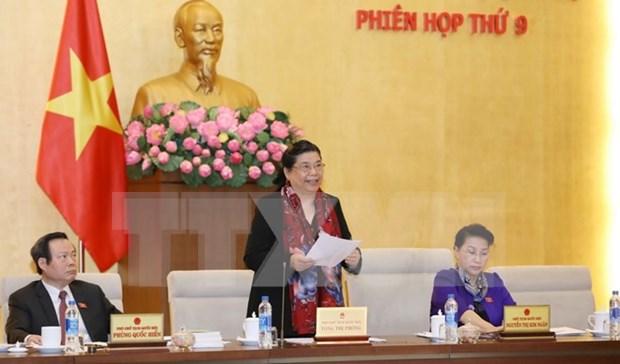 Comite Permanente del Parlamento vietnamita inicia novena reunion hinh anh 1