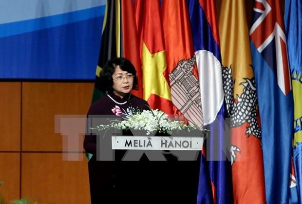 Vicepresidenta vietnamita llamo a promover papel de conexion de ICA Asia-Pacifico hinh anh 1