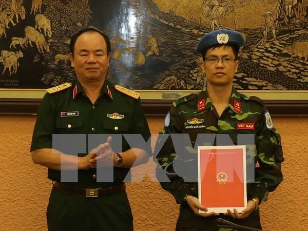 Oficial vietnamita se une a mision de paz de ONU en Republica Centroafricana hinh anh 1