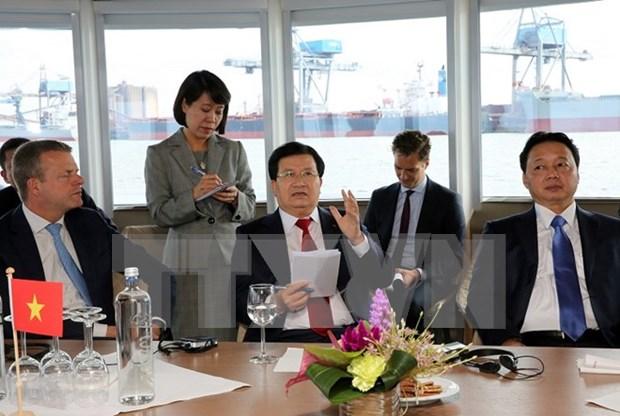 Vietnam desea estudiar experiencias neerlandesas en construccion de puertos maritimos hinh anh 1