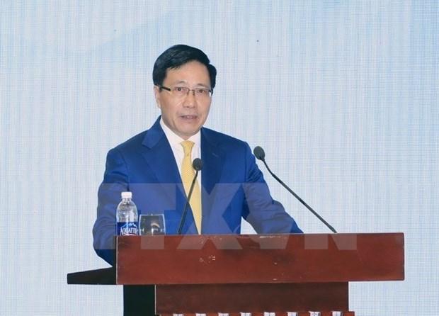 Vicepremier vietnamita continua visita a EE.UU. hinh anh 1