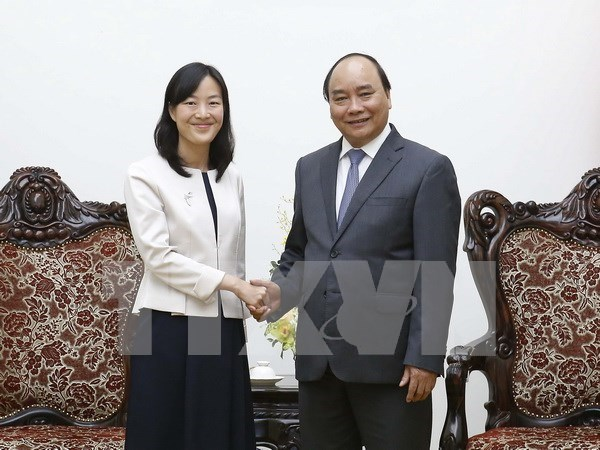 Premier vietnamita recibe a la directora general del grupo taiwanes hinh anh 1
