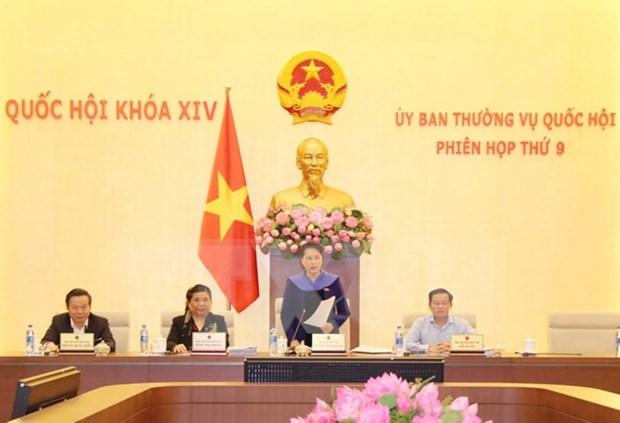 Comite Permanente del Parlamento vietnamita concluye su novena reunion hinh anh 1