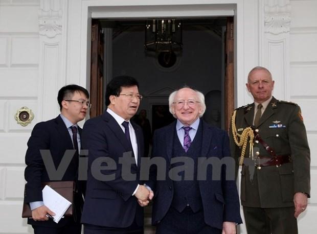 Concluye vicepremier vietnamita visita oficial a Irlanda hinh anh 1