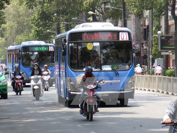 Ciudad Ho Chi Minh amplia operacion de buses que utilizan gas natural comprimido hinh anh 1