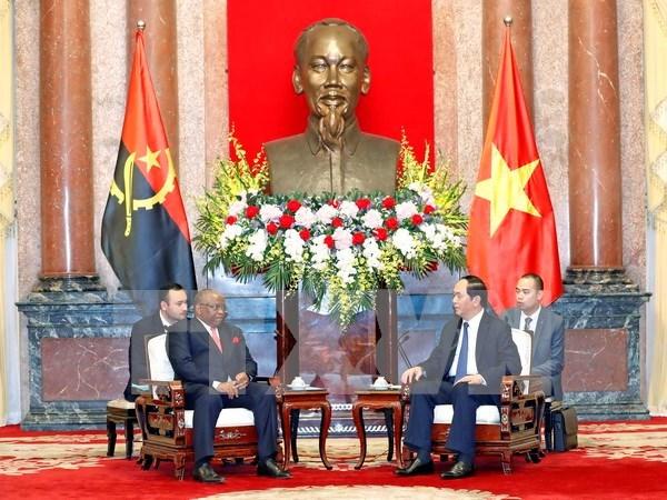 Presidente de Vietnam destaca potencialidad de cooperacion con Angola hinh anh 1