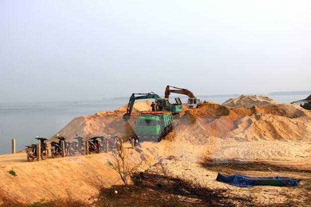 Tay Ninh suspende actividades de extraccion de arena en embalse Dau Tieng hinh anh 1