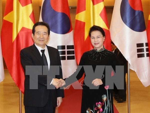 Corroboran nexos Vietnam-Sudcorea en multiples esferas hinh anh 1