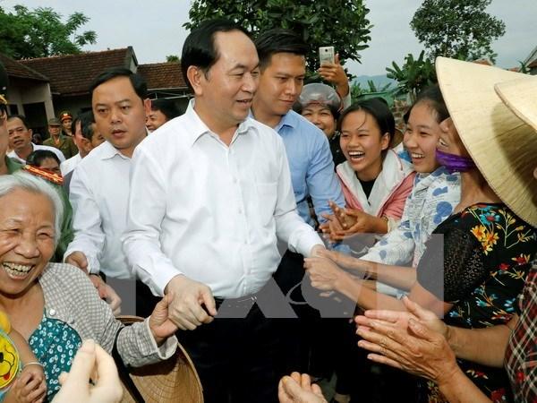 Presidente vietnamita visita comuna ejemplar en modernizacion rural hinh anh 1
