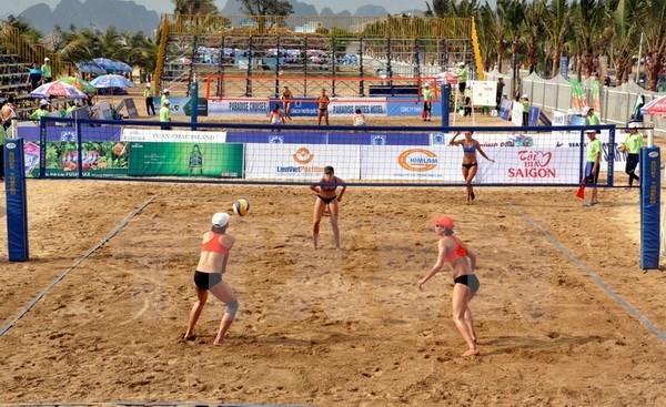 Inauguran en Vietnam Torneo femenino de Voleibol de playa Asia 2017 hinh anh 1