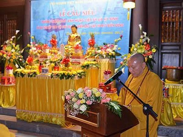 Comunidad de vietnamitas en Ucrania rinde homenaje a martires nacionales hinh anh 1