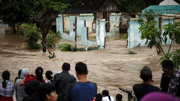 Inundaciones provocan 10 muertos en Oeste de Indonesia hinh anh 1