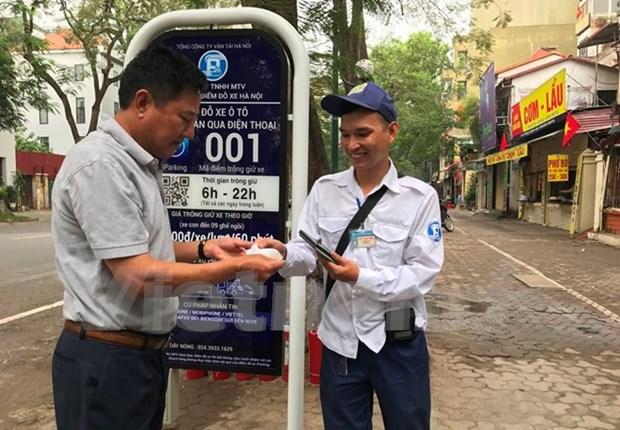 Hanoi emprende servicio de aparcamiento inteligente hinh anh 1