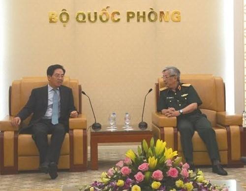 Viceministro vietnamita de Defensa recibe al embajador chino hinh anh 1