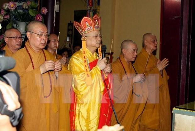 Presidente de Vietnam felicita a budistas por Vesak 2017 hinh anh 1