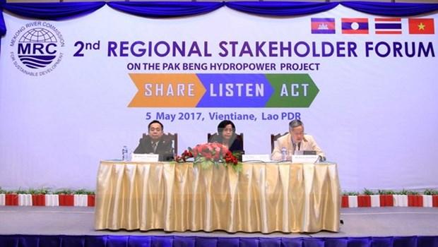 Inician foro consultivo regional sobre proyecto de hidroelectrica en rio Mekong hinh anh 1