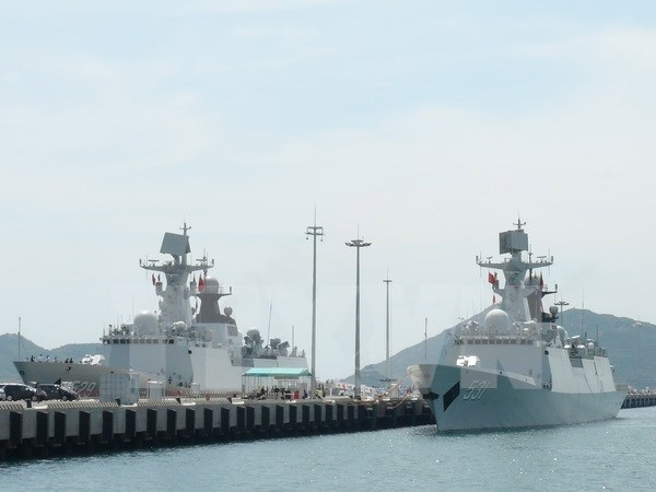 Flotilla de la Armada de China visita puerto maritimo de Ho Chi Minh hinh anh 1