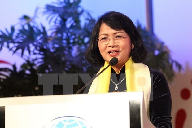 Vicepresidenta de Vietnam inicia visita oficial a Mongolia hinh anh 1