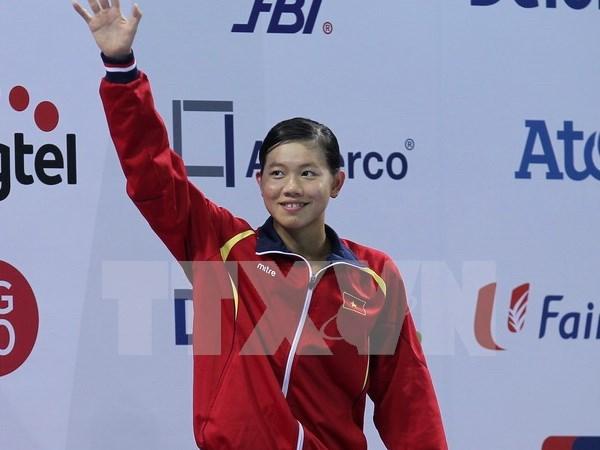 Nadadora vietnamita gano dos medallas de plata en Estados Unidos hinh anh 1