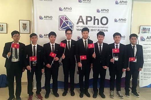 Vietnam gana medalla de oro en Olimpiada de Fisica de Asia hinh anh 1
