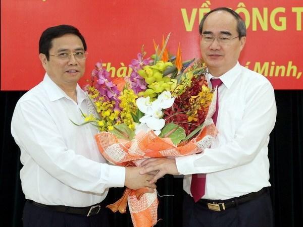 Nguyen Thien Nhan designado como secretario del Comite del PCV en Ciudad Ho Chi Minh hinh anh 1