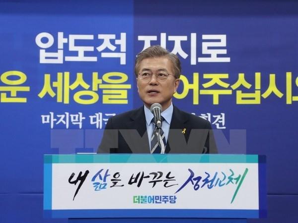 Felicita presidente vietnamita a su par electo de Sudcorea hinh anh 1