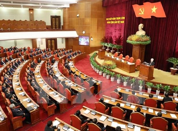 Clausuran quinto pleno del Comite Central del Partido Comunista de Vietnam hinh anh 1