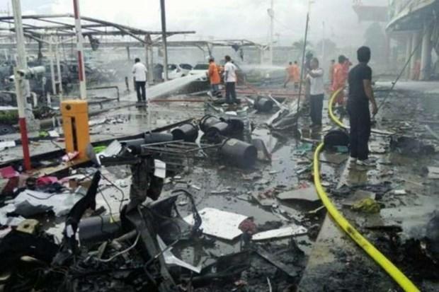 El ejercito tailandes busca a sospechosos de doble atentado con bomba en Pattani hinh anh 1