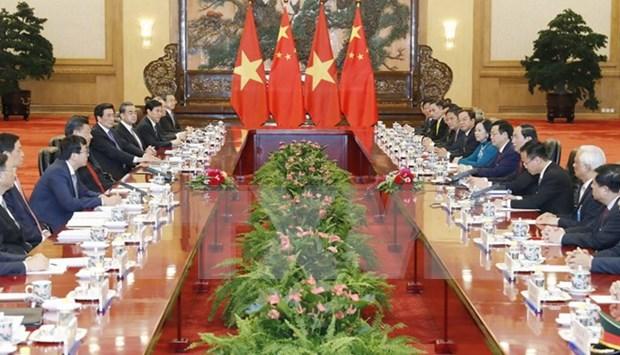Presidente vietnamita reitera nexos amistosos con China hinh anh 1
