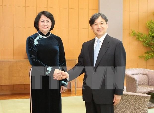 Vicepresidenta vietnamita recibida por Emperador Akihito de Japon hinh anh 1
