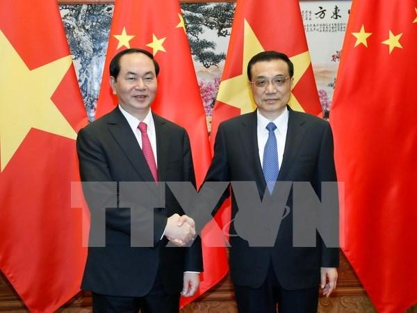 Presidente vietnamita propone medidas para impulsar cooperacion con China hinh anh 1