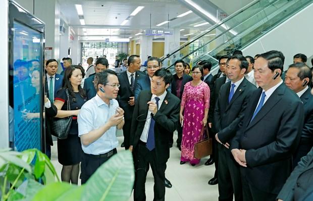 Presidente vietnamita invita inversiones chinas en proyectos de alta tecnologia hinh anh 1