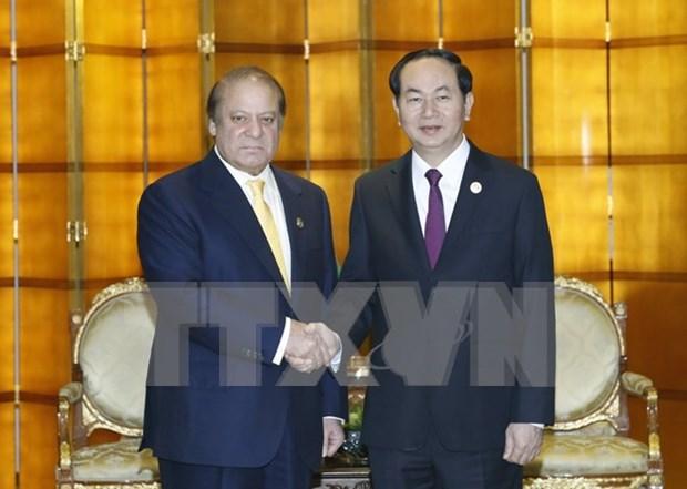 Presidente vietnamita cumple amplia agenda de encuentros en China hinh anh 1