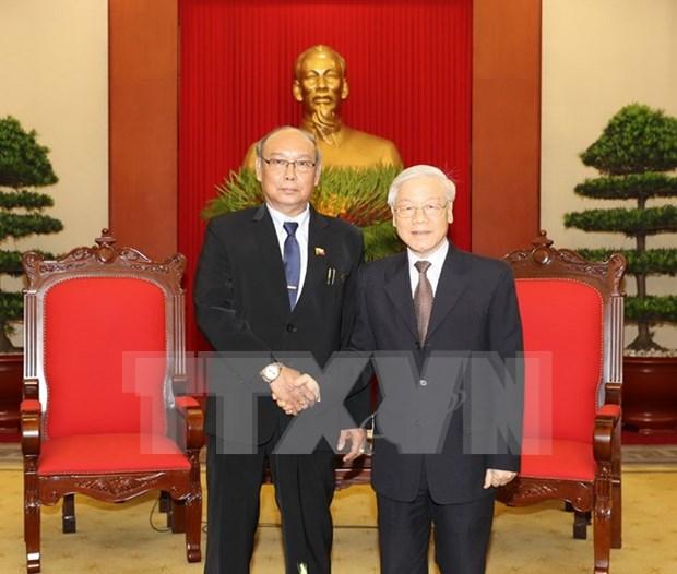 Vietnam atesora lazos con Myanmar, asevera lider partidista hinh anh 1