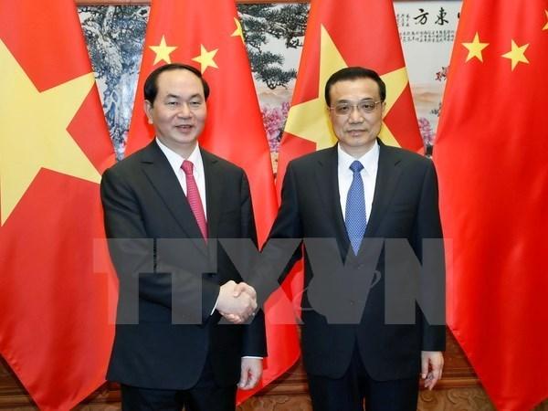 Visita de presidente vietnamita a China cosecha importantes resultados hinh anh 1
