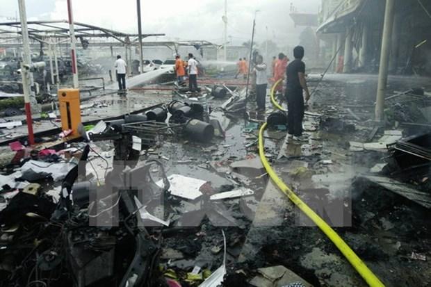 Explosion en capital tailandesa deja dos heridos hinh anh 1