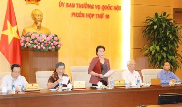 Clausuran decima sesion del Comite Permanente del Parlamento vietnamita hinh anh 1