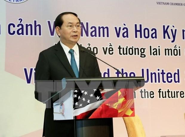 Presidente Dai Quang: Vietnam da la bienvenida a inversionistas estadounidenses hinh anh 1