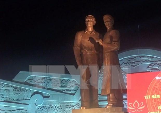 Develan en Vietnam monumento de Ho Chi Minh y su padre hinh anh 1